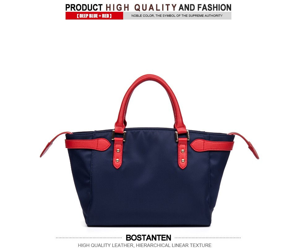 Bostanten Luxury Handbags Women Bags Designer Nylon Casual Tote Casual Blue Zipper Satchel Personalized Tote Bags Shoulder Bags