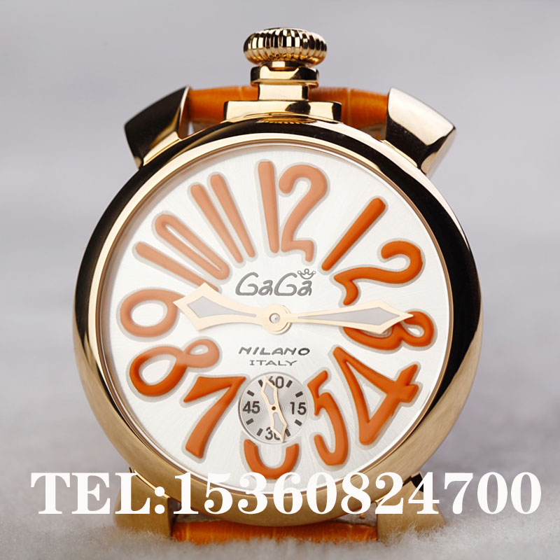 Gift big dial watch fashion manual mechanical gaga - Rabbit Queen hair store