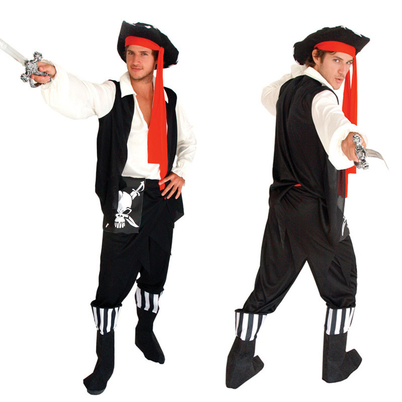 Halloween Costume Adult Cos Costume Male Stage Cosplay Costume Pirate Suit Hallowmas Party Suit Make Up