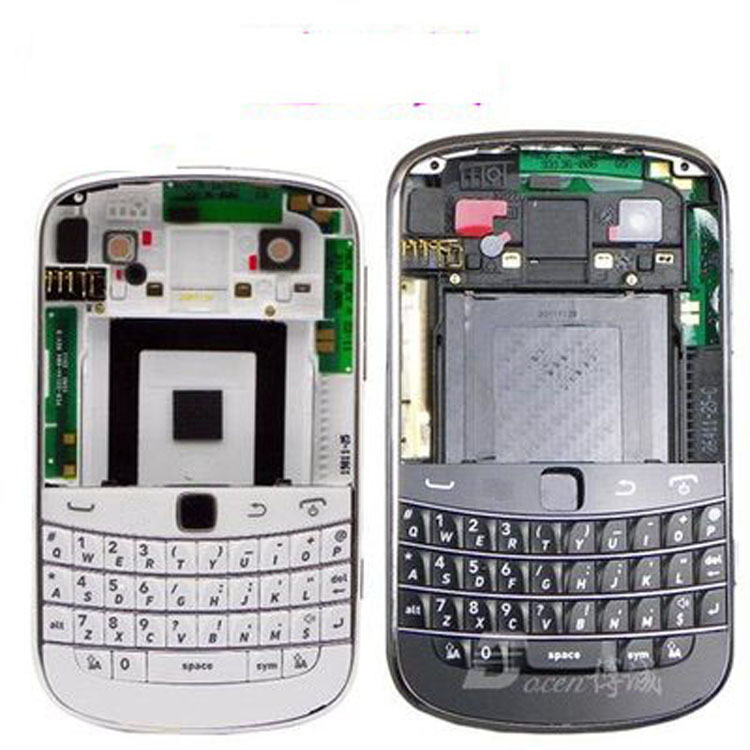 New Full Complete Mobile Phone Housing Cover Case(Middle + Battery Cover +Keypad) For BB Blackberry Bold 9900+Tracking(China (Mainland))
