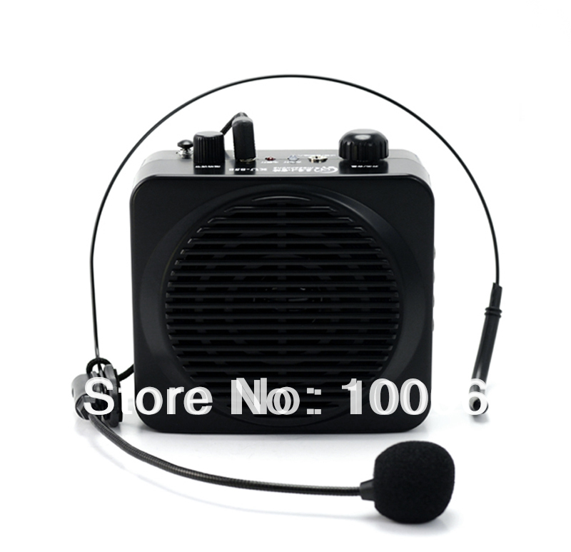 Brand New 18W Multifunction Portable Waistband Voice Booster Mini PA Amplifier Loudspeaker FM wholesale #170191(China (Mainland))