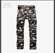 2016 New Camouflage Men Trousers multi Pocket Decorated Slim Straight Pants Street Style Men Trousers Plus Size Casual Trousers