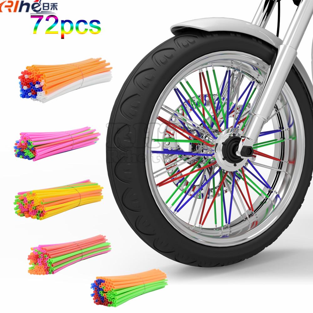 Universal Motocross Dirt Bike Enduro Wheel RIM SPOKE Shrouds SKINS COVERS for SUZUKI DR200SE DR650SE DR-Z 400 RMX250 RMX-450Z(China (Mainland))
