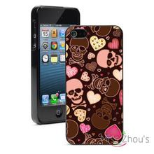 Skuls Crossbones Hearts Protector back skins mobile cellphone cases for iphone 4/4s 5/5s 5c SE 6/6s plus ipod touch 4/5/6