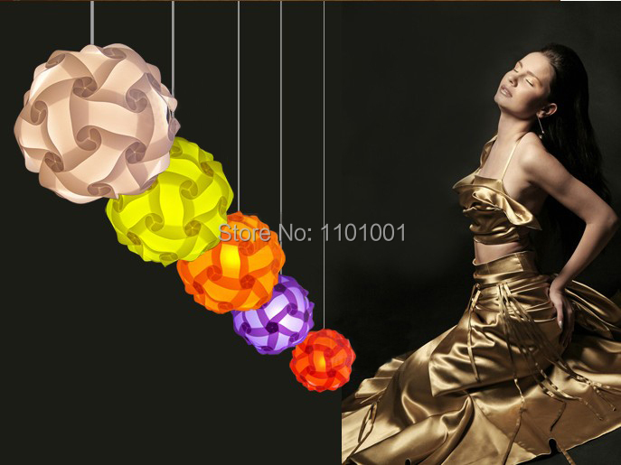 2015 DIY Modern Pendant Ball novel iq lamp puzzle lamdshades for home decoration and Christmas bar decoration(China (Mainland))