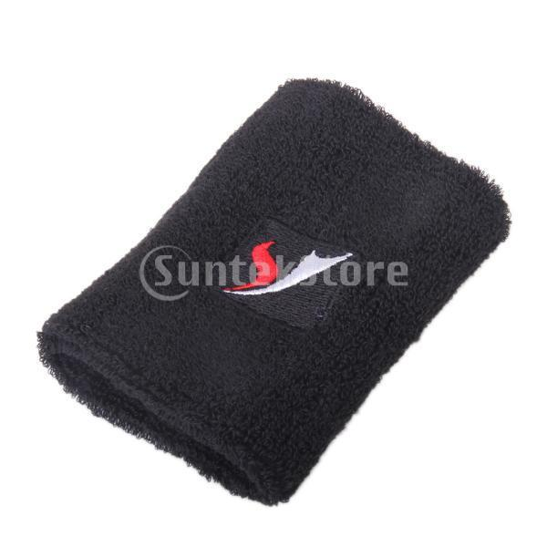 Free Shipping Black sports wristband wrist band Sweatband