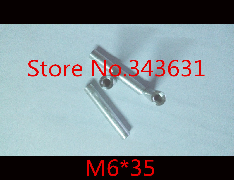 10pcs/lot M6*35 M6 x 35 Aluminum Round standoff spacer extend long nut<br><br>Aliexpress