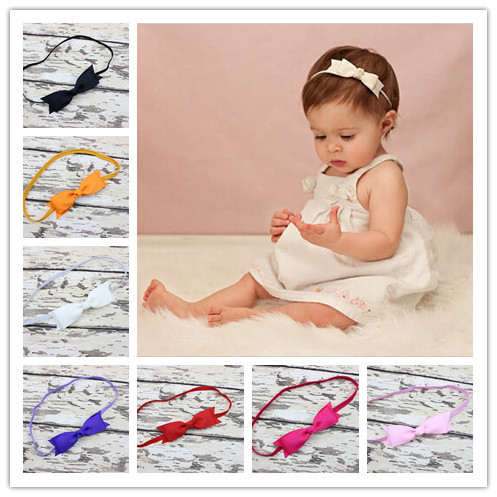 New Boutique Hair Bow with Headband for Baby Girl Hair Accessories Bow Headband Toddler Hair Bands Newborn Photo Prop 30pcs/lot(China (Mainland))