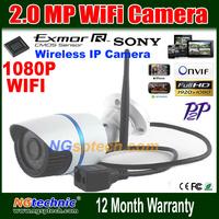 Sunvision Onvif 2.0MP 1080P HD Wifi IP Camera Wireless P2P Plug Play IR Cut Night Vision Waterproof Outdoor Indoor 1920*1080P