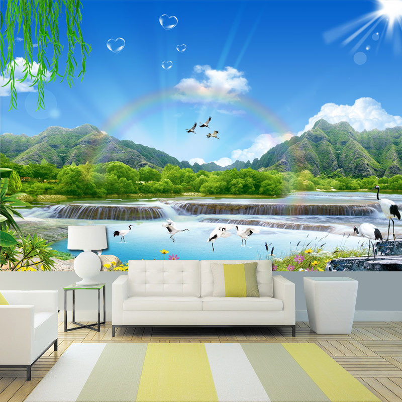 Buy Free Shipping 3d Natural Scenery Blue