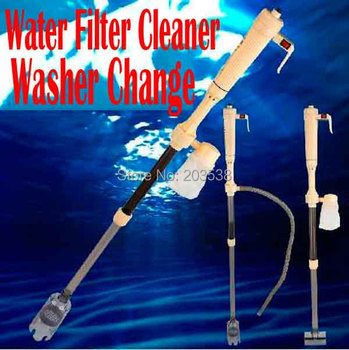 Updated Aquarium Water Filter Cleaner Change Battery Electric Syphon,Auto Home Vacuum Fish Tank Gravel pumping Filter Washer