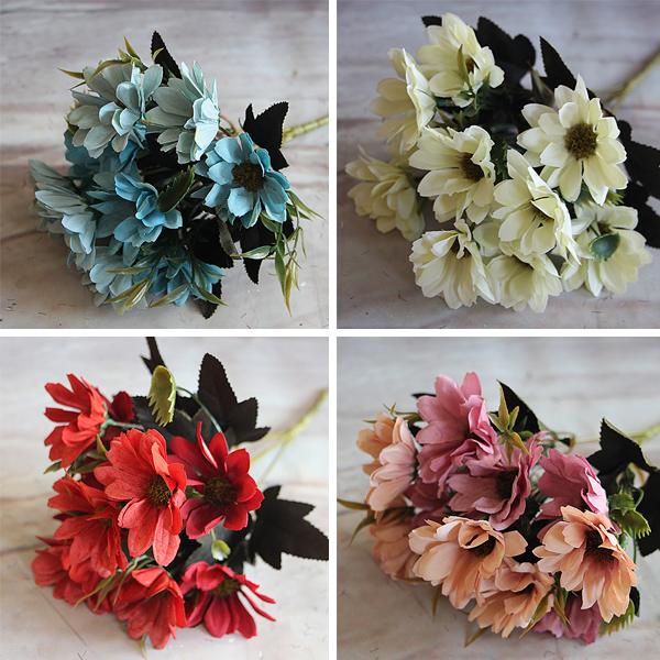 1pcs European Floral artificial flower Bouquet silk flowers Spring Daisy flowers artificial For decoration mariage