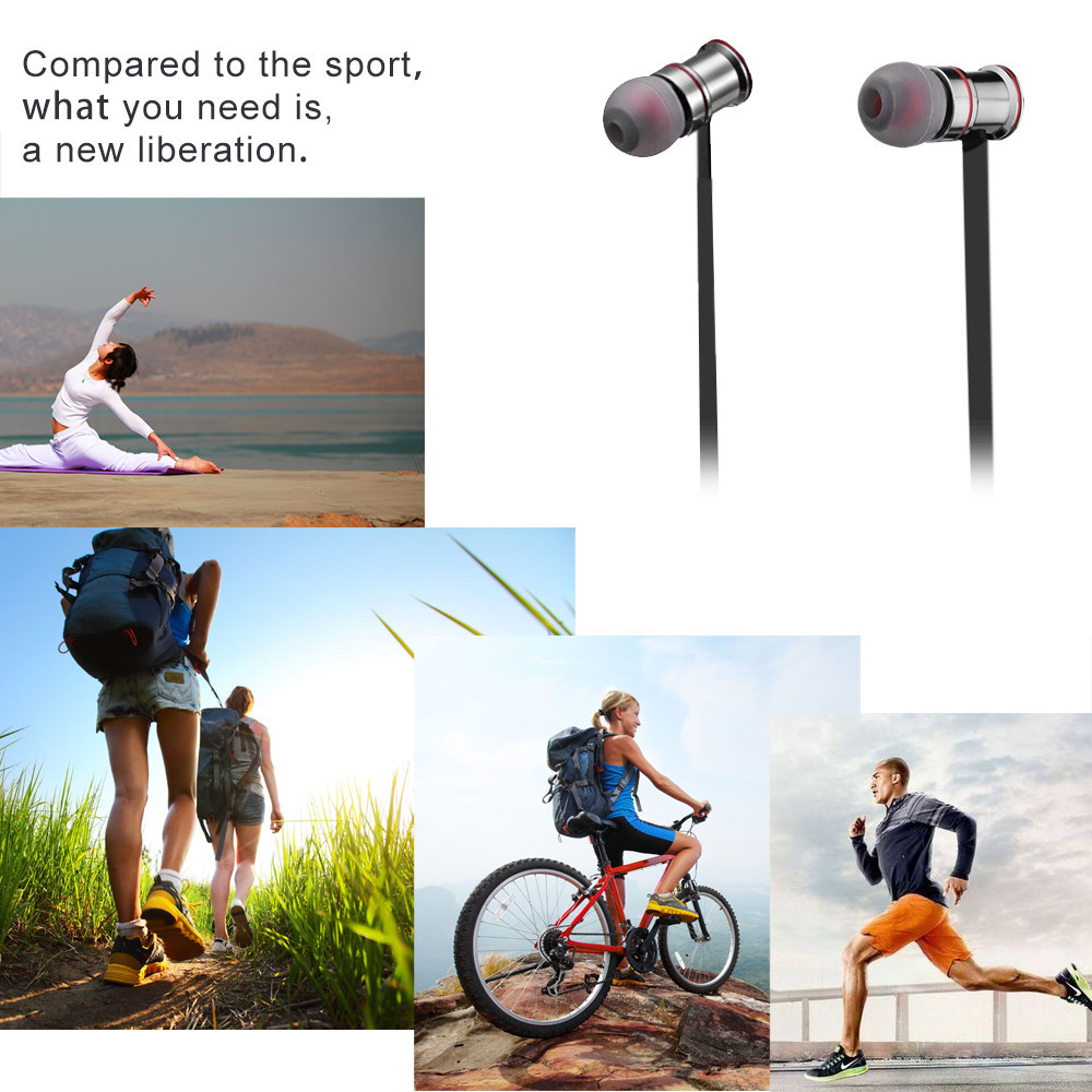 ECandy Bluetooth Earphone In-ear Sweatproof Running Sports Music Stereo Earbuds Handsfree Mic Auriculares