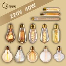 Buy 40W Retro lamp edison bulb st64 vintage Socket DIY Rope Pendant 27 incandescent bulb 220v holiday lights filament lamp lampada for $1.17 in AliExpress store