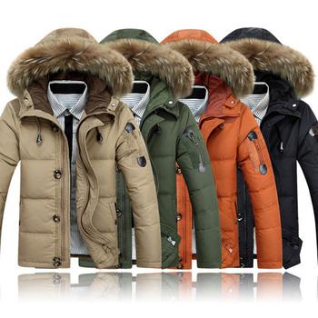 Оптовая продажа новое поступление зима мода мужские пуховик мужчин парки отдыха мужчин с капюшоном толстый обивка куртка молния DL1217