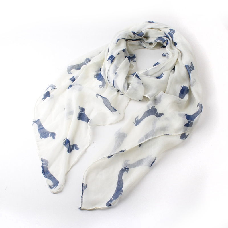 2014 new fashion 9 color Animal Dachshund Dog Print Scarf Pashmina women scarves