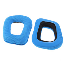 High Quality Replacement Ear Pads Cushions for Logitech G35 G930 G430 F450 Headphones Blue Color Free Shipping(China (Mainland))
