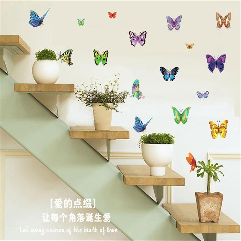 Buy Fashion Pvc Mural Wall Sticker Cartoon Butterfly Home Decor Removable Art