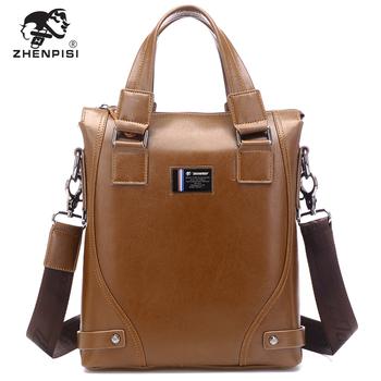 Freeshipping Leather handbag cowhide male bag man shoulder bag messenger bag casual bag business bag