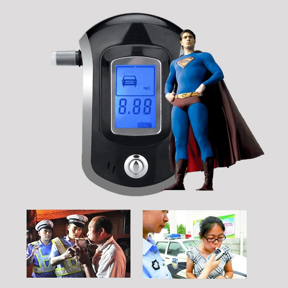 Portable and convenient to response AT6000 LCD Screen Sound Alarm Digital Alcohol Breath Tester Free Shipping(China (Mainland))