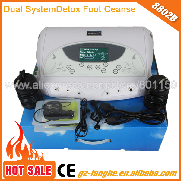 Best Dual Ion Cleanse Foot Detox Machine For Home electronic blood circulation foot massage machine(China (Mainland))