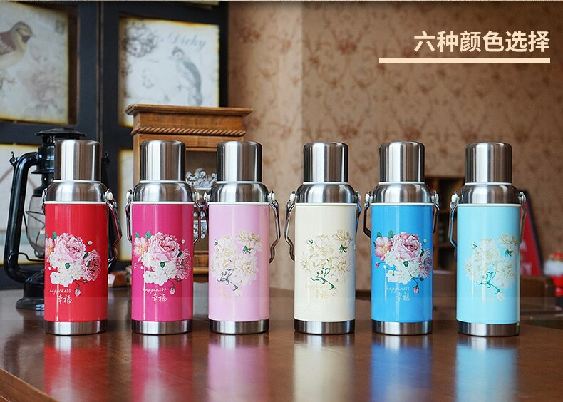 Retro Kettle Large Capacity Stainless Steel Thermal Pot Thermos Bottle Home(China (Mainland))