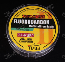 Promotion price TOP Quality Transparent Coating Carbon Fishing Lines Fluorocarbon 100m 0.16mm-0.60mm  fishing lines(Hong Kong)