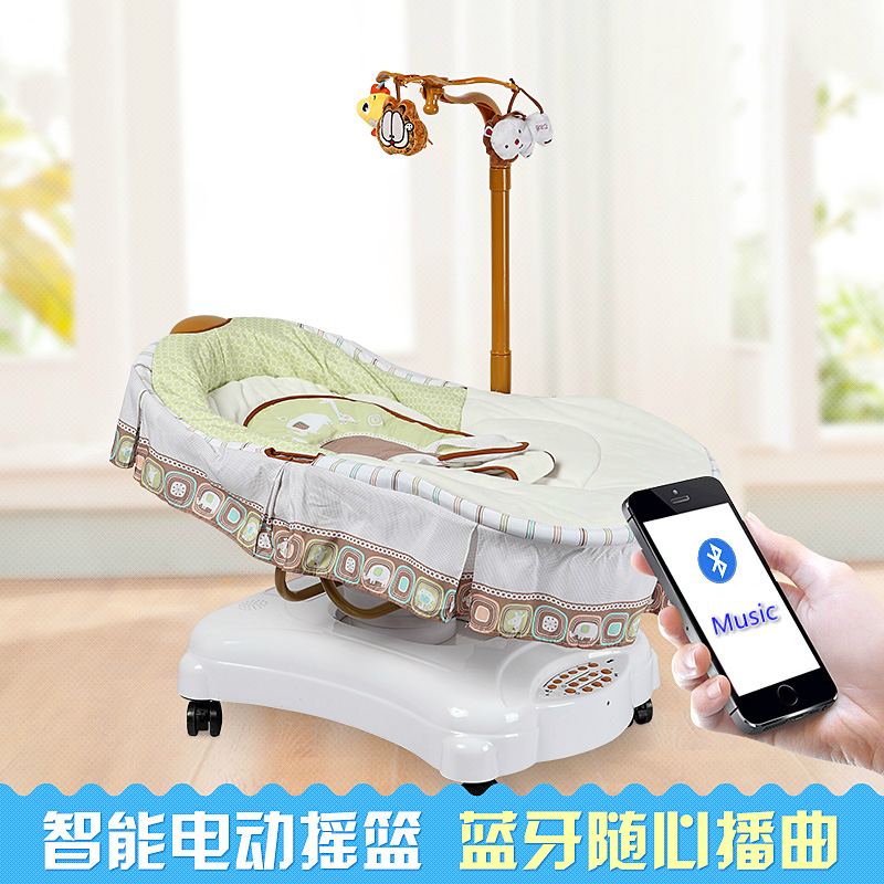 Baby bed baby electric swing bed promotion shop for for Schaukelstuhl porta