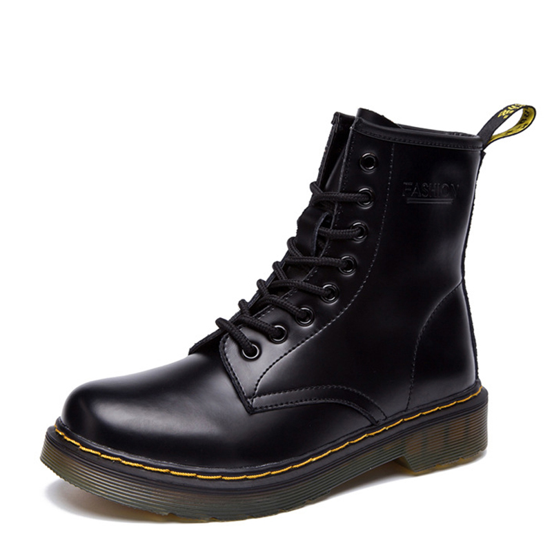 Women Boots Doc Martins 2016 British Dr Martins Vintage Classic Genuine Martin Boots Female Thick Heel Motorcycle Women's Shoes(China (Mainland))