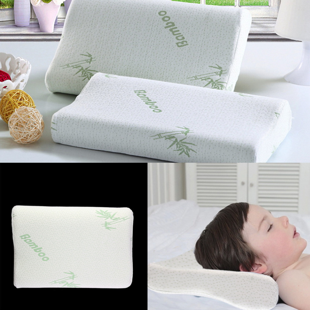 Children Adjustable Bamboo Pillow Slow Rebound Memory Foam Pillow Health Care Contour Memory Foam For Neck Shoulder Support(China (Mainland))