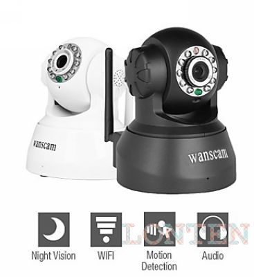 Wanscam - Wireless IP Surveillance Camera with Angle Control (Motion Detection, Night Vision, Free DDNS)(China (Mainland))