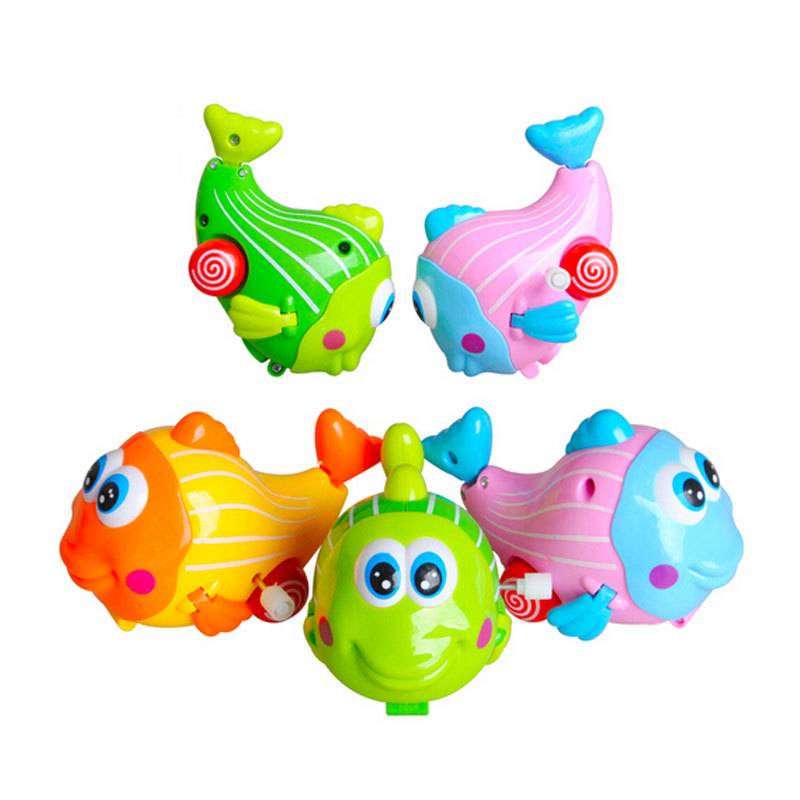 Swing very happy fish wind up toys small animal chain small toy infant baby child early learning toy(China (Mainland))