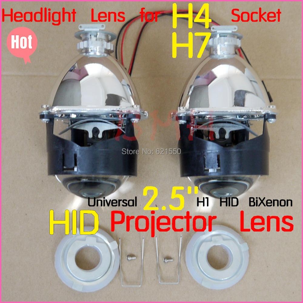 Pioneered New Car Accessories Car Styling Retrofit 2.5'' H1 Mini Hid Bi-xenon H4 Projector Headlight Lens Hid Bi-xenon H7 Socket(China (Mainland))