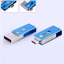 Metal waterpoof 360 degree OTG USB flash drive 8GB for OTG function Android Smartphone pen drive