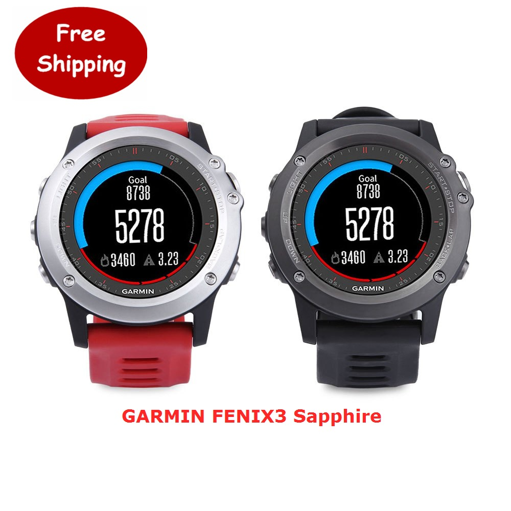 Sport Cycling Running Bluetooth 4.0 For iphone GARMIN FENIX3 Sapphire GPS Smart Watch With Heart Rate Monitor 100M Waterproof(China (Mainland))