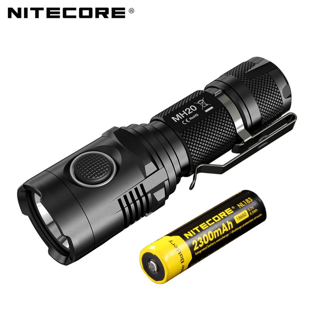 Гаджет  Hot New Products 1000 Lumen Rechargeable NITECORE MH20 LED Flashlight 18650 Flash Light Torch None Свет и освещение