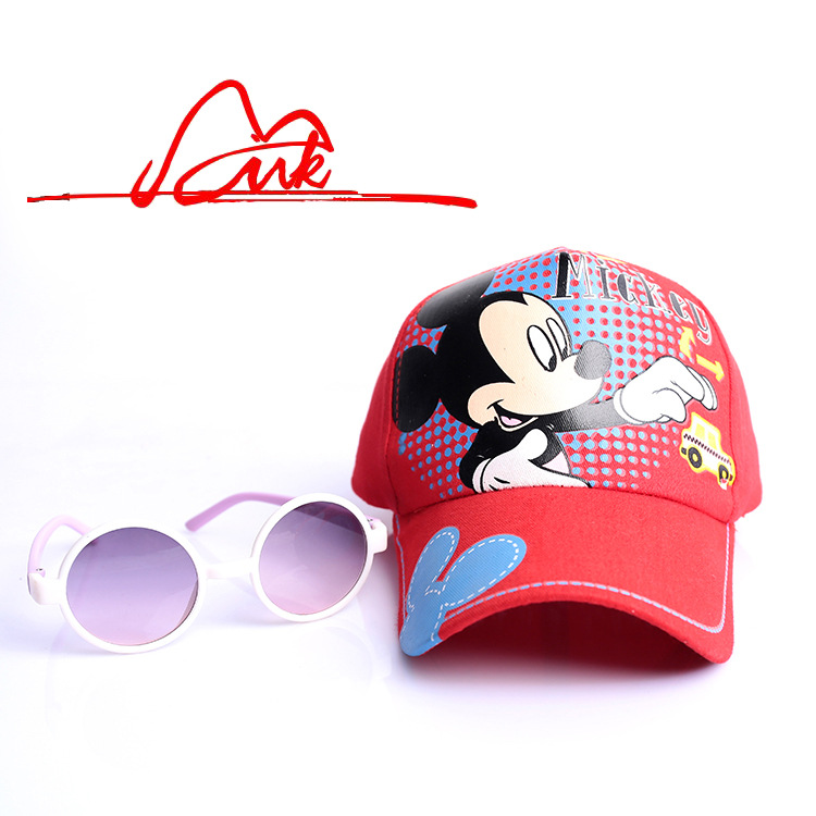 OMG new Child mickey children baseball cap summer sun bonnet casual baby hats & caps suit2-14Y 6502(China (Mainland))
