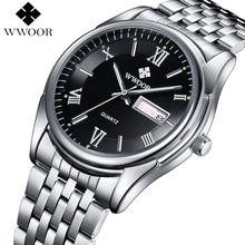 Buy Men Watches Luxury Brand Day Date Luminous Hour Clock Silver Steel Strap Casual Quartz Watch Men Sports Wrist Watch Male Relogio for $18.99 in AliExpress store