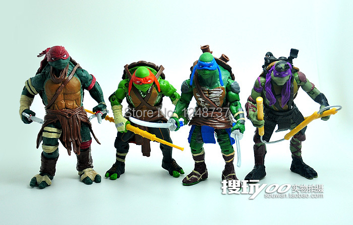 Wholesale for 20sets playmates TMNT Teenage Mutant Ninja Turtles toys, 4 pcs/set Donatello Action Figure, PVC toys for kids(China (Mainland))