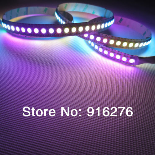 2m 288 LEDs WS2812B Chip Black PCB WS2811 IC Digital SMD 5050 RGB pixel LED Strip Lights addressable 5V(China (Mainland))