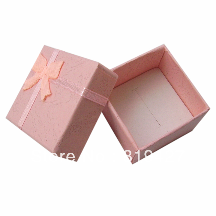 Free shipping Pink Color Gift Paper Stripe Jewelry Boxes, Ring cases, Earring Box Size 4*4cm 24pcs/lot China display Suppliers(China (Mainland))