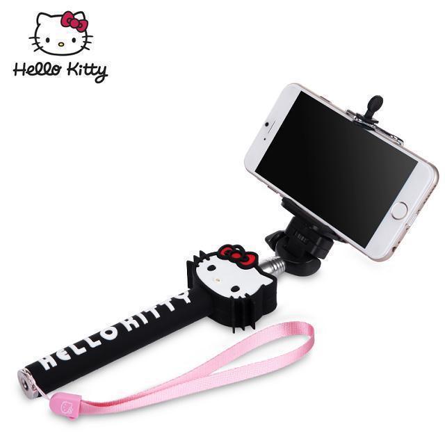 buy extendable selfie monopod hello kitty selfie stick handheld monopod clip. Black Bedroom Furniture Sets. Home Design Ideas