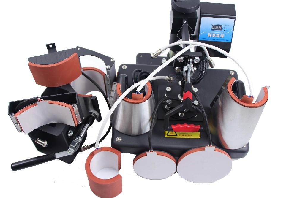 Купить Бесплатная доставка 8 в 1 combo машина давления жары для кружка крышка плиты Футболка печатная машина DX801
