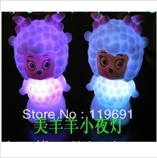 Luminous toys female goat colorful small night light colorful female goat small night light changing light
