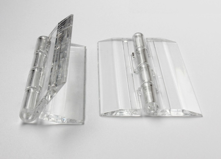 12PCS/LOT H45*W38*T3mm Transparent Clear Acrylic Hinge(China (Mainland))