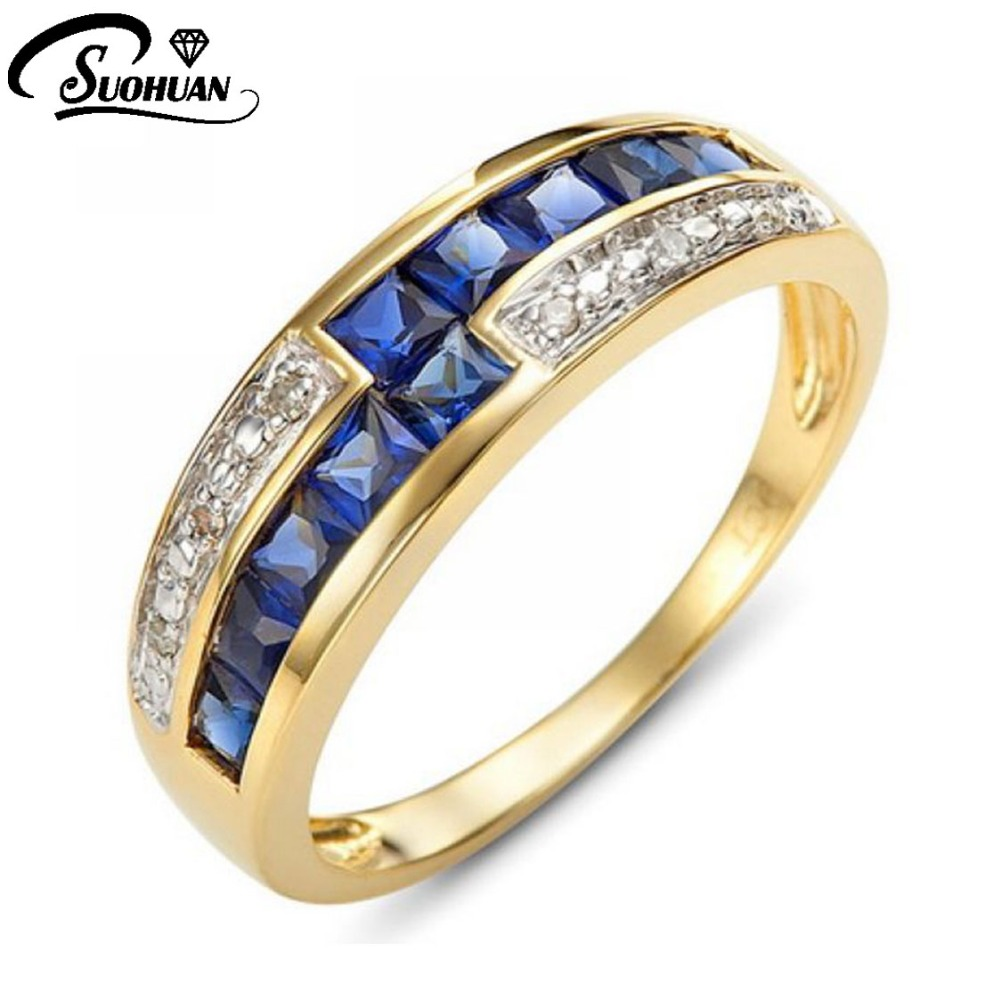 Jewelry Size 6,7,8,9,10 New Fashion Womans Amazing Blue Sapphire  Cz 18K Yelow Gold Filled Anniversary Ring Gift  Free Shipping<br><br>Aliexpress