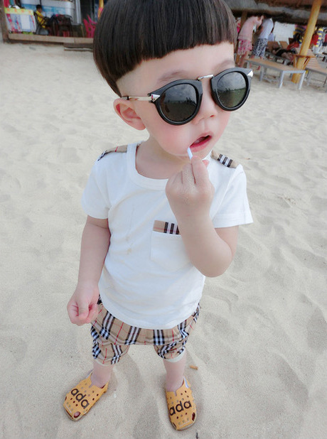 2015 Baby summer Suits clothing Height 90cm-130cm brand children tracksuit boy gap clothing for boys year suit sports for boys(China (Mainland))