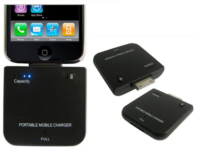 1900mAh external battery power Pack Portable Mobile Charger for iPhone 4 4S 3G iPod Nano 3rd iPod Portable power pack