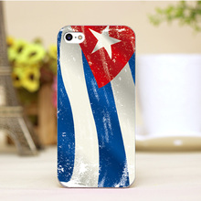 pz0005-29 Cuba flag Design Customized cellphone transparent cover cases for iphone 4 5 5c 5s 6 6plus Hard Shell