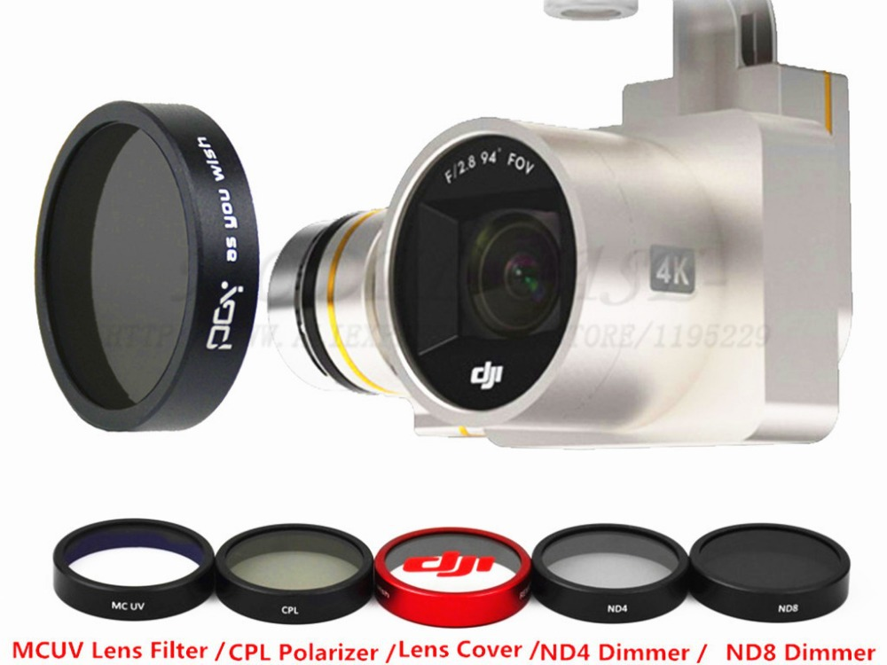 DJI phantom 3 HD UV filter ND4 + ND8 + CPL + MCUV filter + Lens Cover drone with camera RC Quadcopter FPV drones  Free Shipping